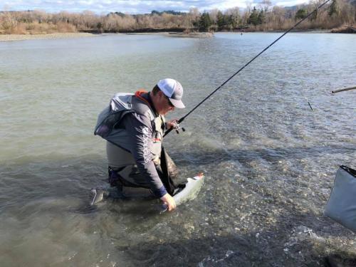 Fred Mad River Steelhead Fishing