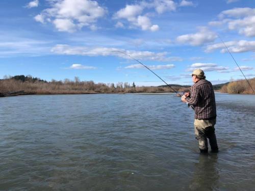 Michael Mad River Steelhead Fishing